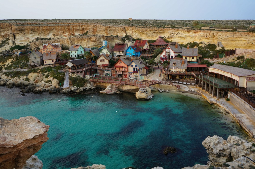 View of Popeye Village Film Set from 1980 via MadeinMoments.com