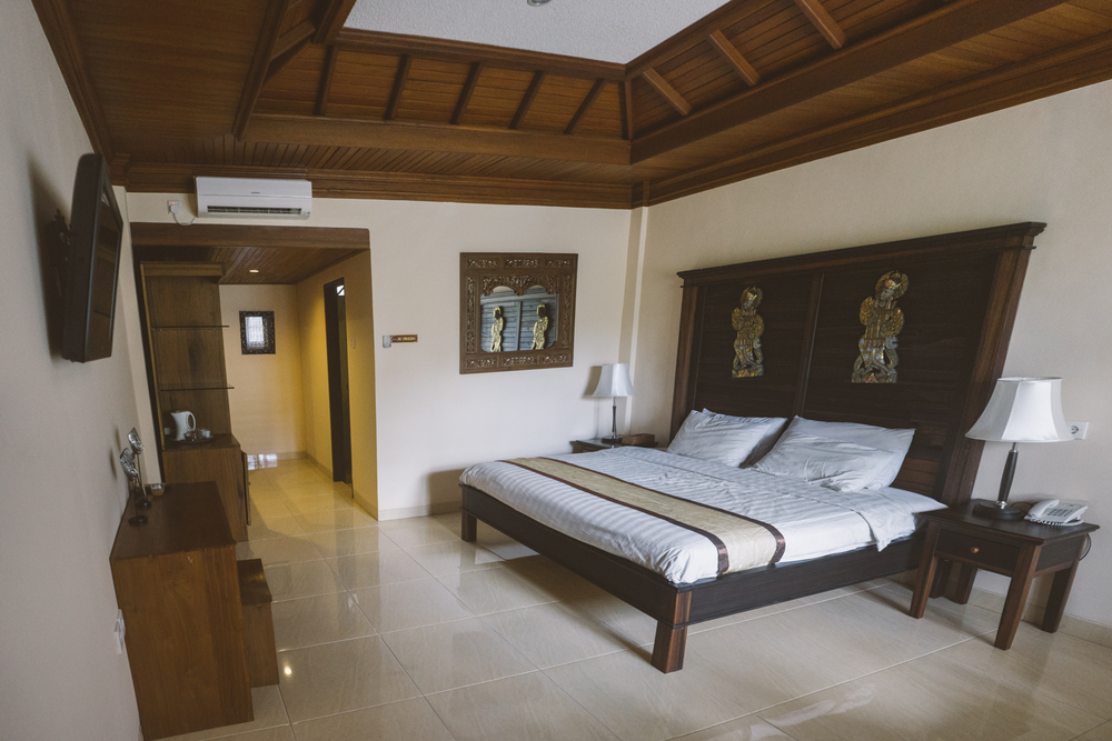 Our hotel room at Bhuwana Ubud Hotel was very large and comfortable. / madeinmoments.com