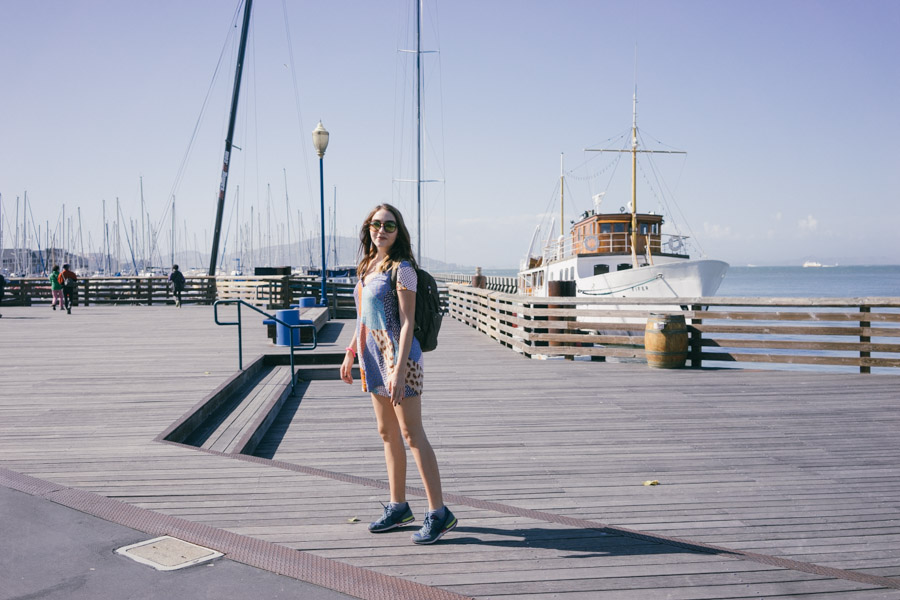 Walking among the piers in SF | www.MadeinMoments.com