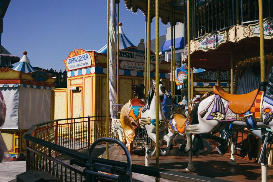 Merry Go Round at Pier 39, San Francisco's tourist destination | www.MadeinMoments.com