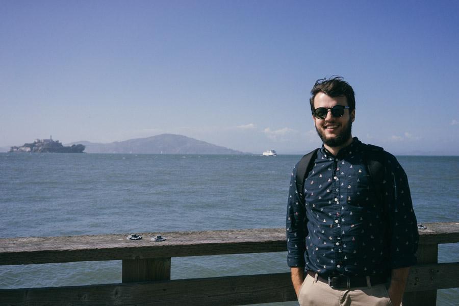 Tomy enjoying a sunny day in San Francisco | www.MadeinMoments.com