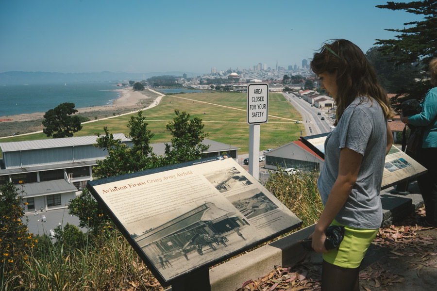 Reading about the old Military Barracks overlooking Crissy Field, SF | www.MadeinMoments.com