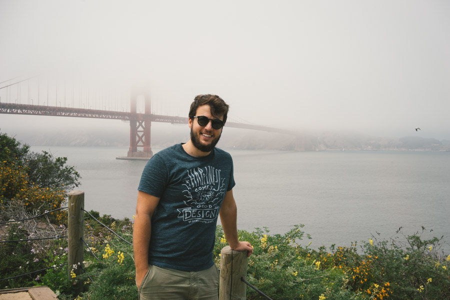 Tomy of MadeinMoments looking handsome with the Golden Gate Bridge in San Francisco