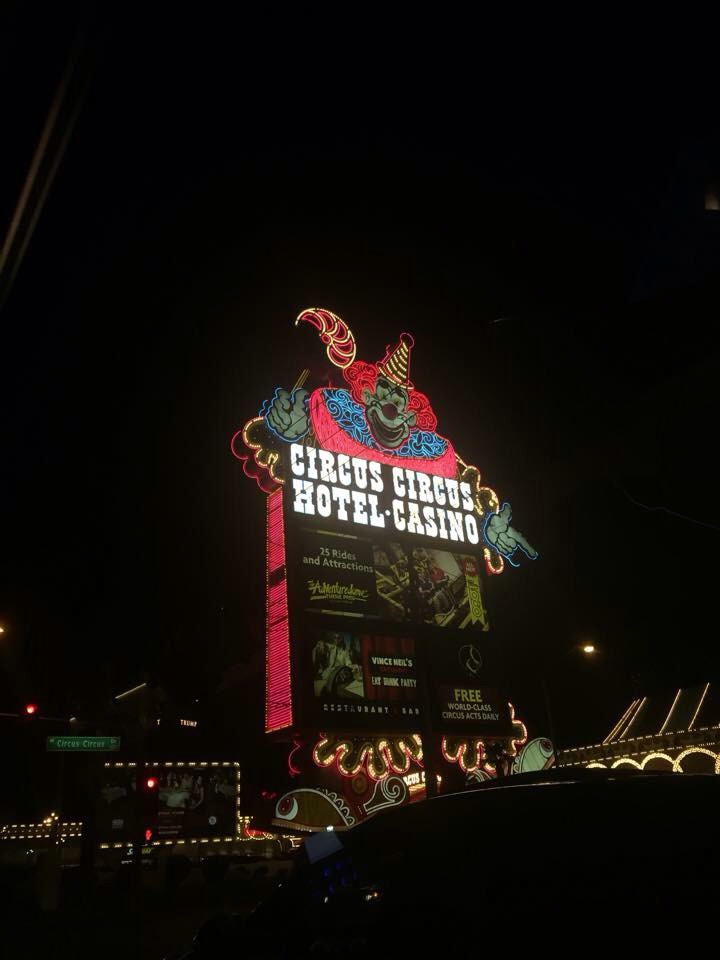 A quick shot of the Las Vegas classic Circus Circus hotel.