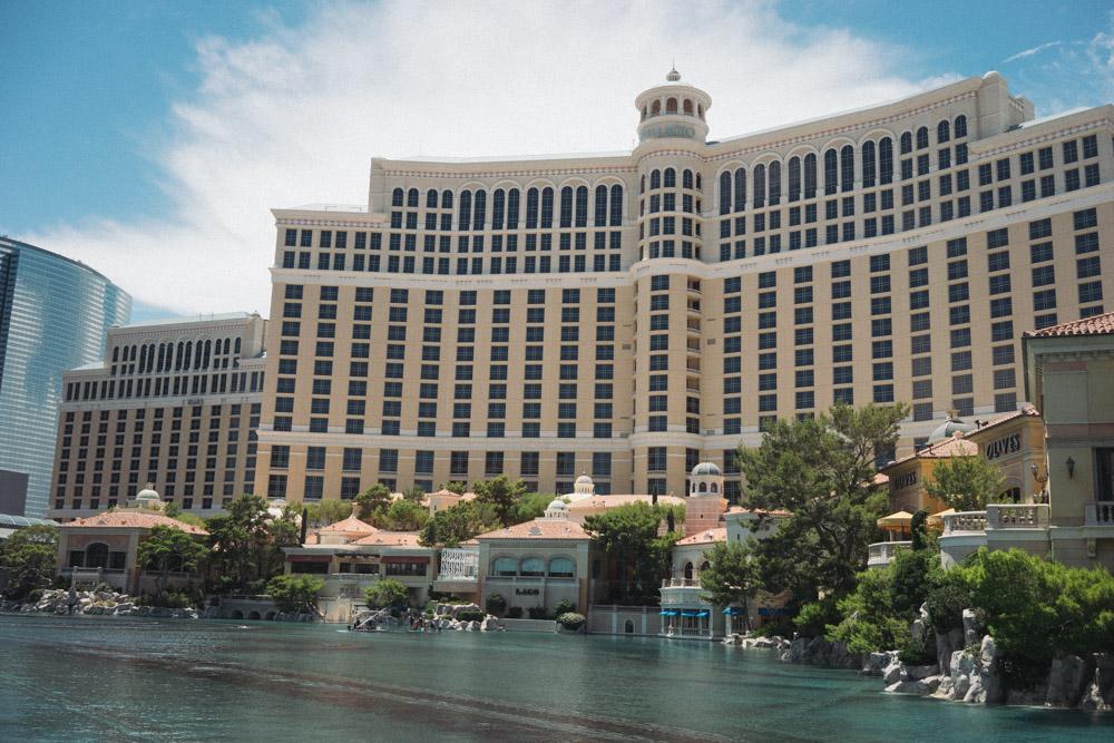 The famous Bellagio Fountain in Las Vegas