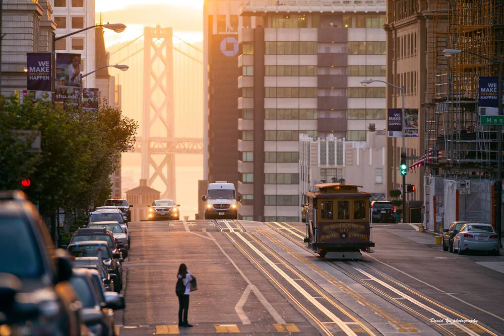 San Francisco cable car scene by local photographer David Yu