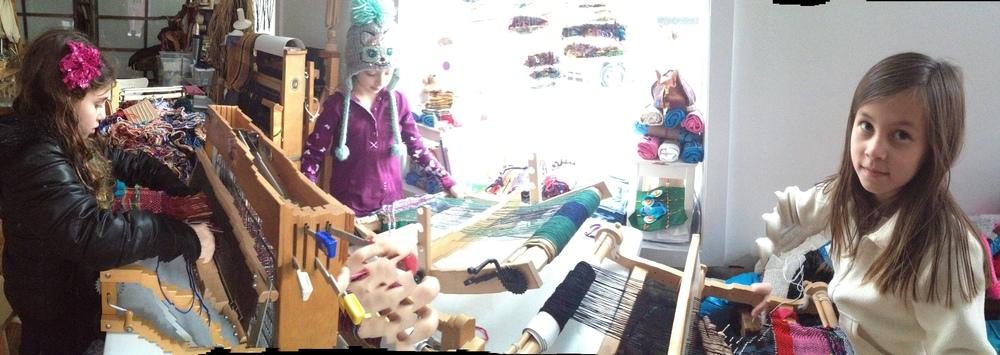 Ready to Hand:  After-School weaving panorama.jpg