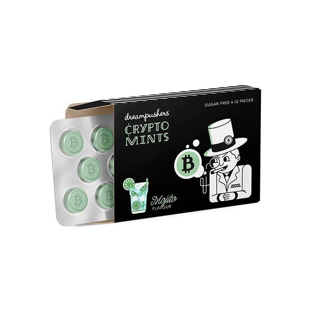 CRYPTO MINTS by us :) Mojito Flavoured and Sugar Free #Bitcoin #Blockchain #Crypto #btc