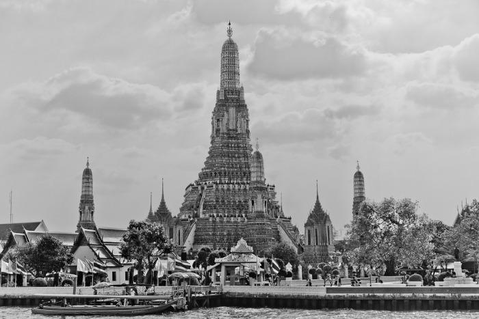 Wat Arun seen from the Chao Phraya River, Bangkok