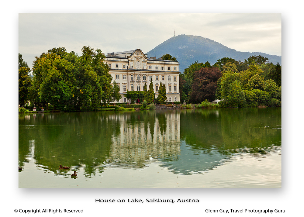 Featured in The Sound of Music Schloss Leopoldskron Castle and lake in Salzburg, Austria