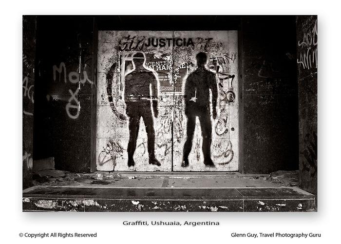 Graffiti in Ushuaia, Argentina