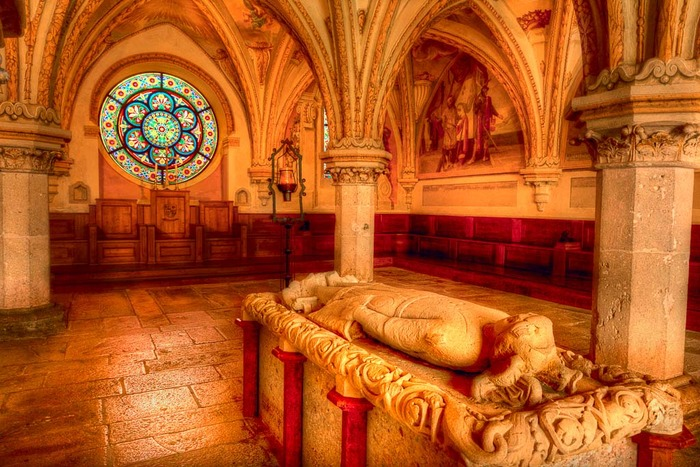 Tomb of Frederick II, known as Frederick the Quarrelsome, in Heiligenkreuz Abbey, Austria