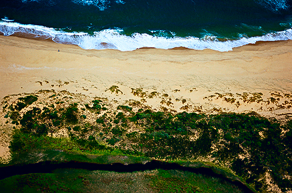 Aerial view over Johanna Beach, Great Ocean Road, Australia