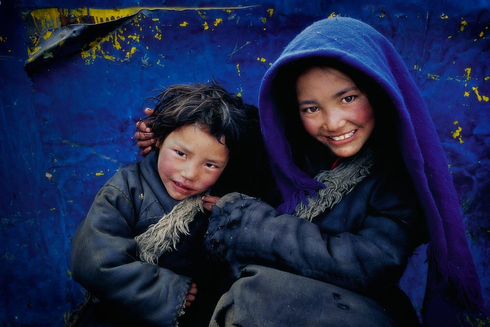 Beggar Children, Lhasa, Tibet