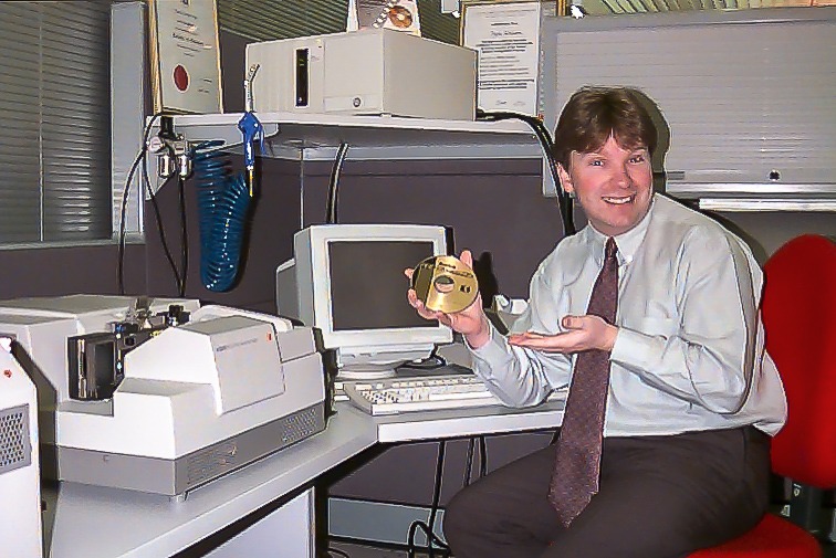 Glenn Guy, one of the first people in Australia to work with the Kodak Photo CD system. Photo from the early 90's.
