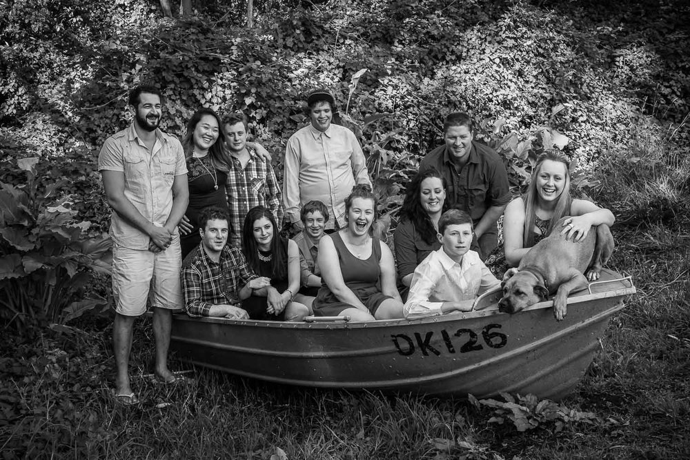 Family Portrait in an old dinghy