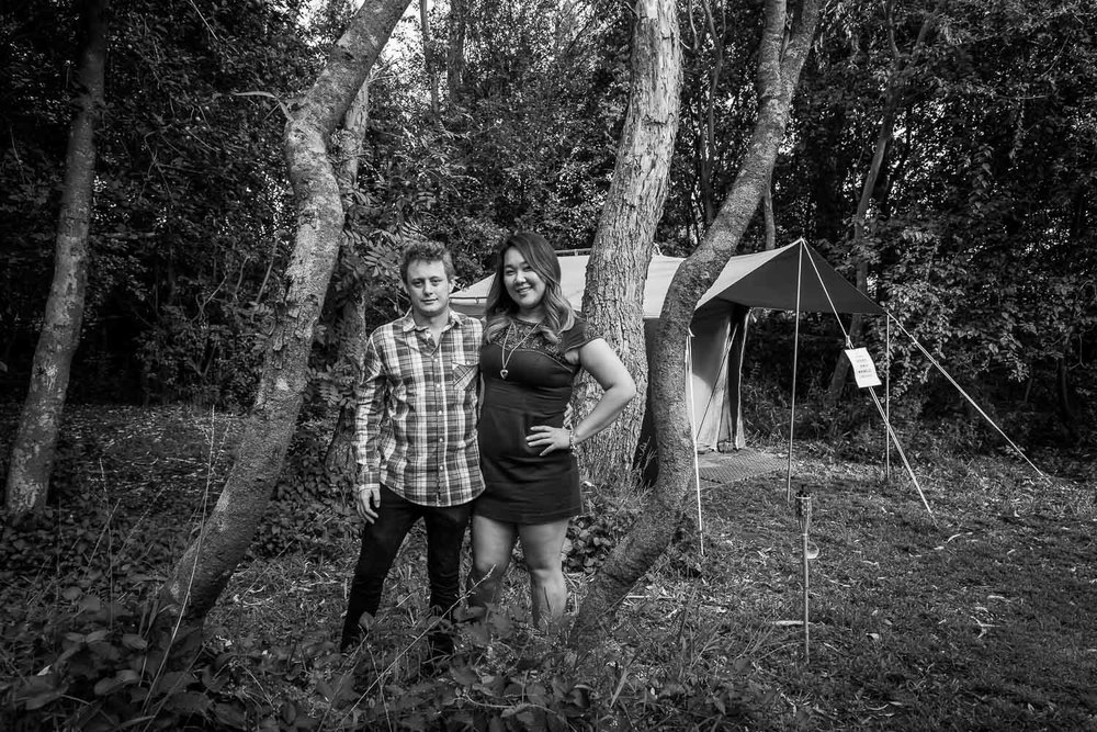 Young Couple at Bush Camp