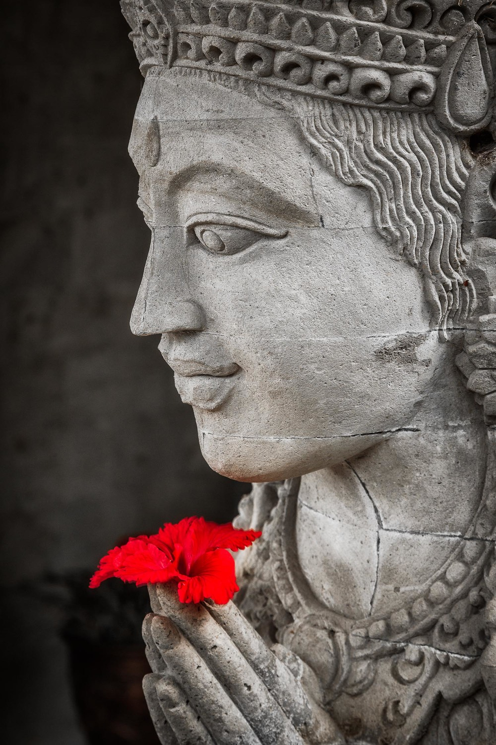 Buddha Statue and Flower, Bali