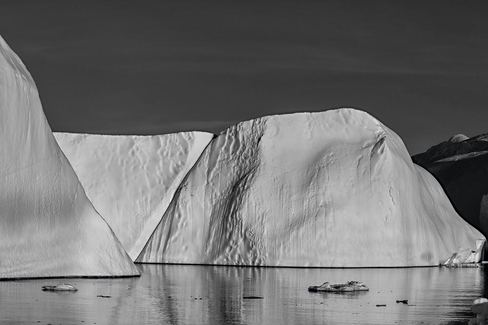 Nature's Design, Icebergs, Ilulissat Icefjord, Greenland.