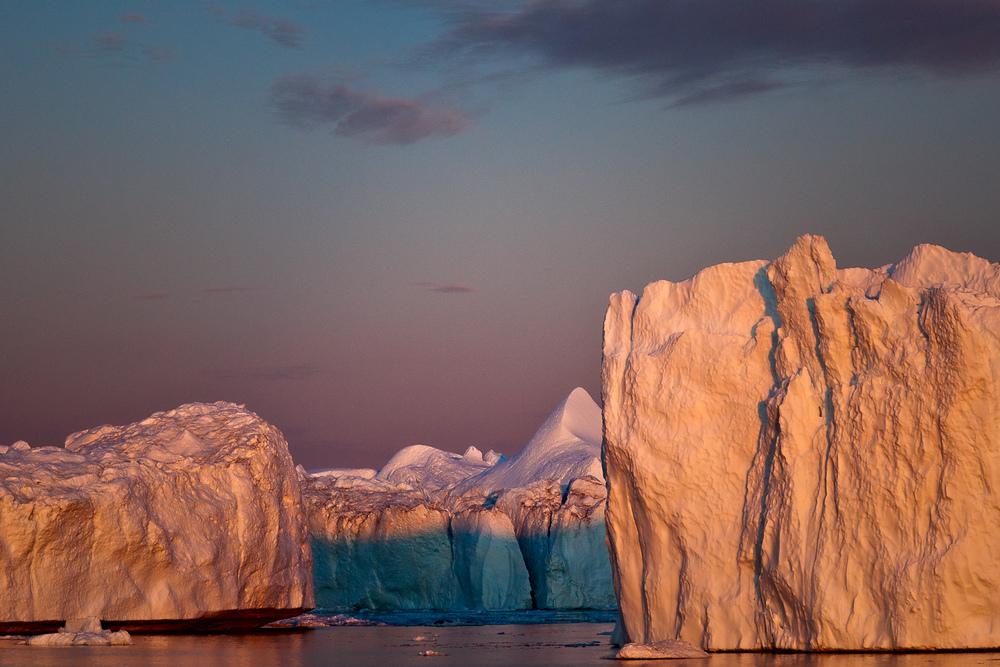 Giant Icebergs, Midnight Sun