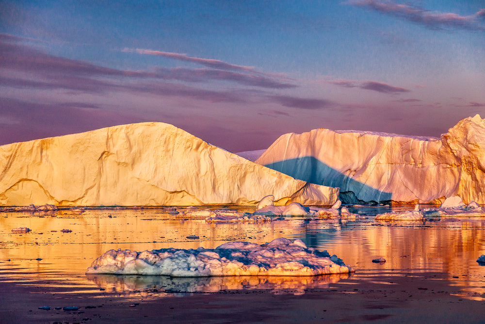 Sunset, Ilulissat Icefjord, Greenland