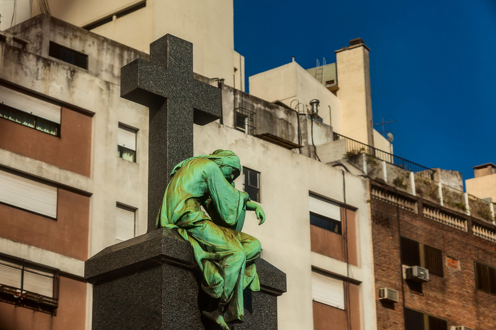Weary Angel, La Recoleta Cemetery, Buenos Aires, Argentina