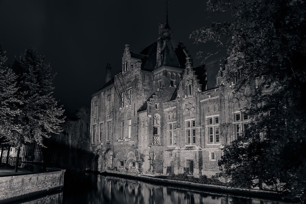 Night Light on the Canal, Brugge, Belgium