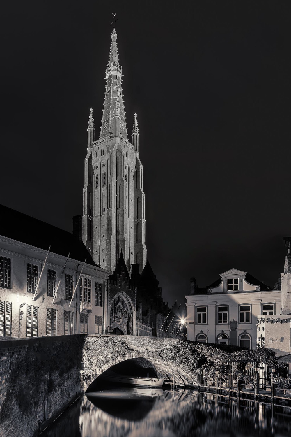 Church of Our Lady at Night, Brugge, Belgium