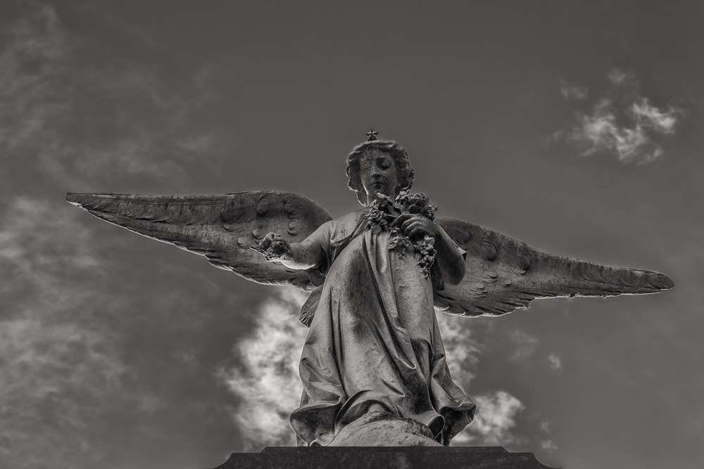 Angel and Sky, La Recoleta Cemetery, Buenos Aires, Argentina