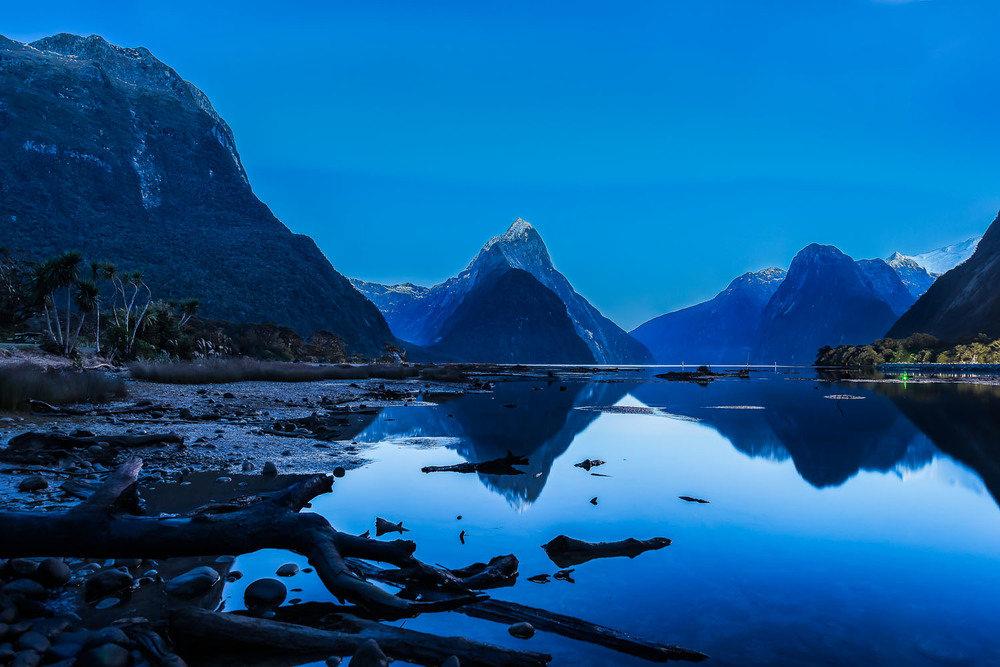Dawn, Milford Sound, New Zealand