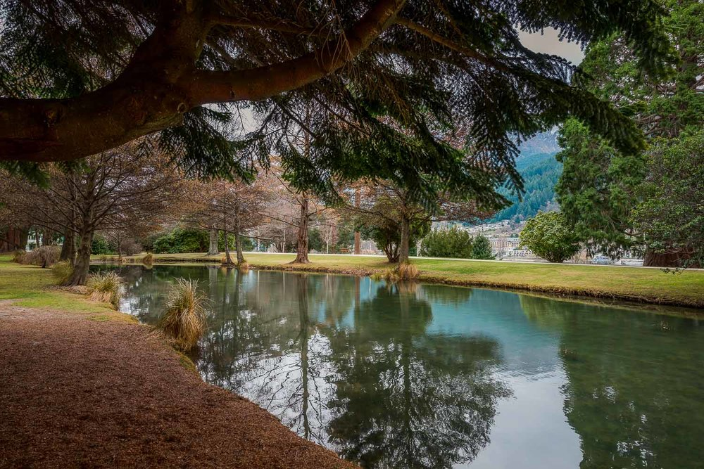 Lake and Trees, Queenstown Gardens, Queenstown, New Zealand