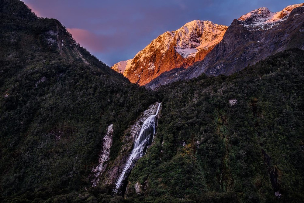 Sunrise, Milford Sound, New Zealand