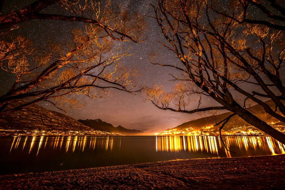 Night, Lake Wakatipu, Queenstown, New Zealand