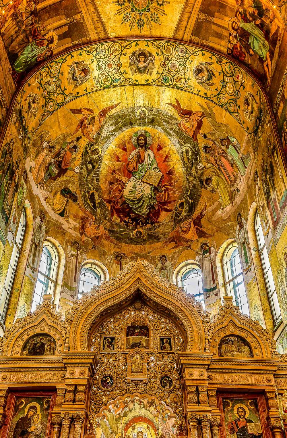Church Ceiling, Church of Savior on the Spilled Blood, St. Peter