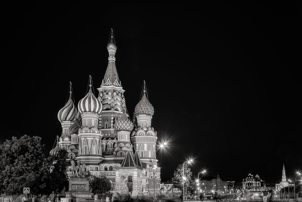Night, St. Basil's Cathedral, Moscow, Russia