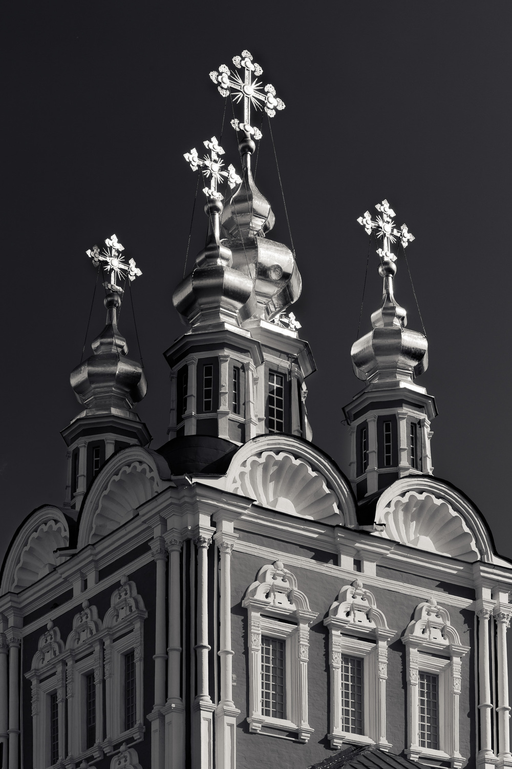 Crosses, Novodevichy Convent in Moscow, Russia