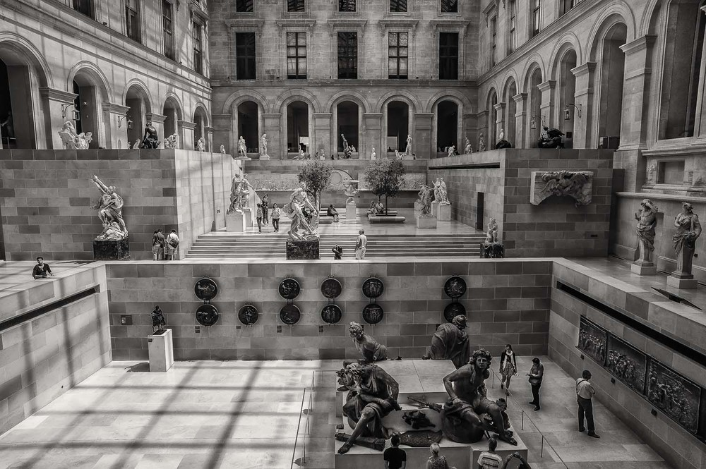 Courtyard, Louvre, Paris, France