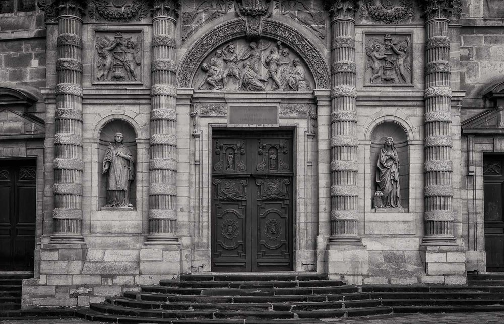 Facade, St. Etienne du Mont Church, Paris, France
