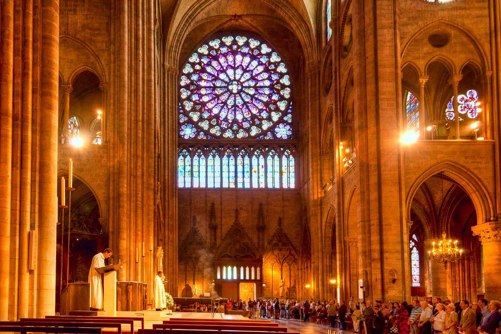 Mass, Notre Dame Cathedral, Paris, France