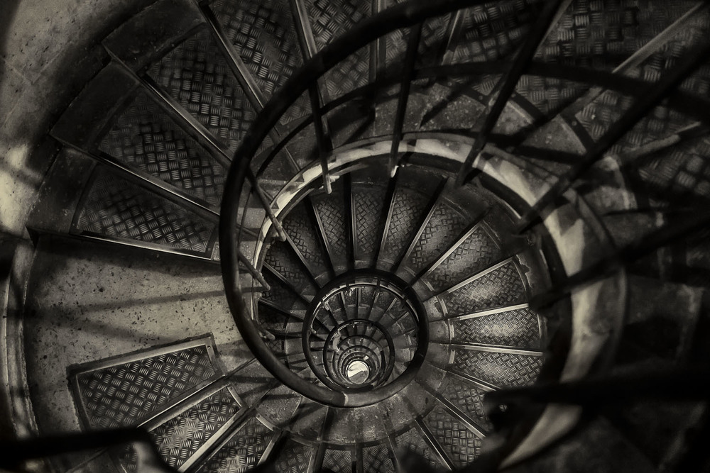 Stairwell, Arc de Triomphe, Paris, France