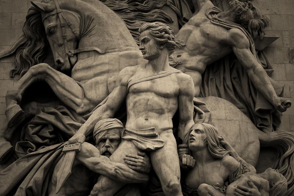 Statues, Arc de Triomphe, Paris