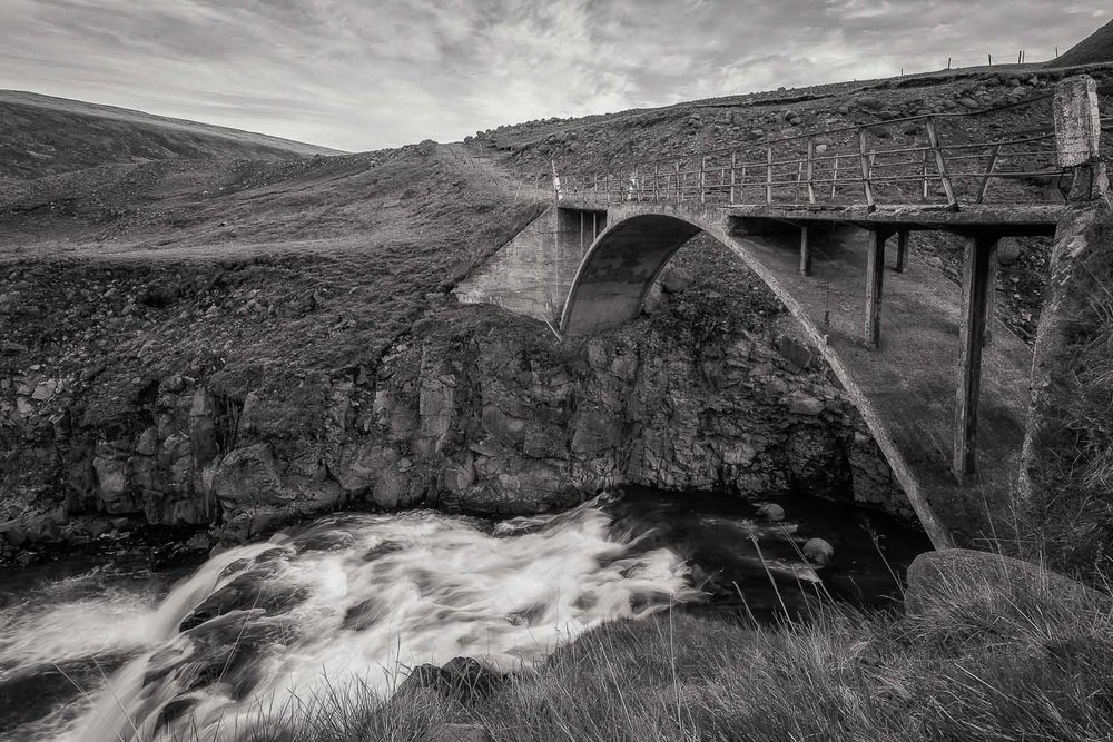 Old Bridge and Stream, Iceland