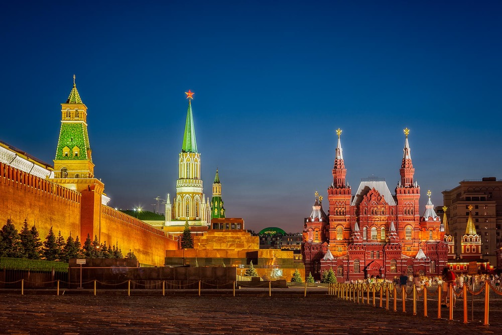 The magnificent Red Square on a warm summer's evening in Moscow, Russia.