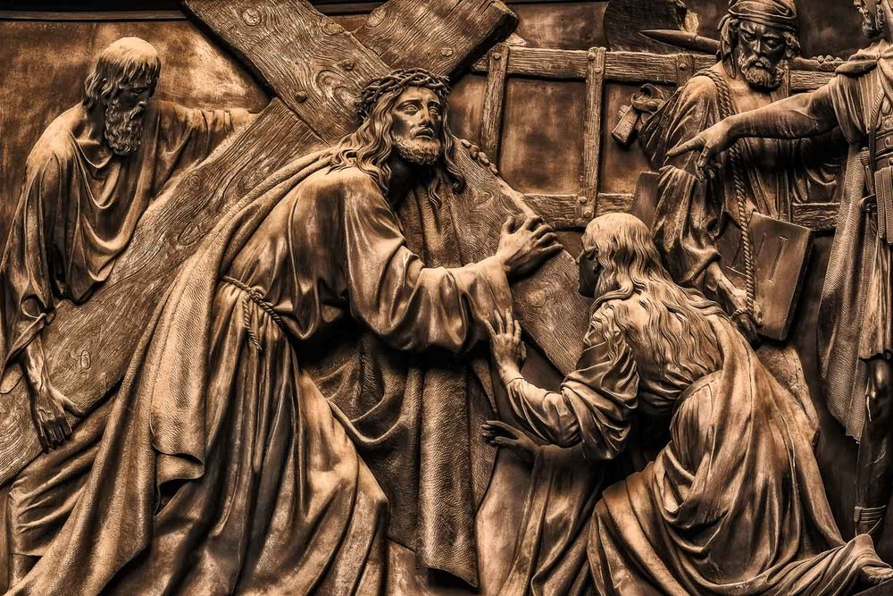 Stunning relief on an outside wall of the magnificent St. Isaac's Cathedral in St. Petersburg, Russia.