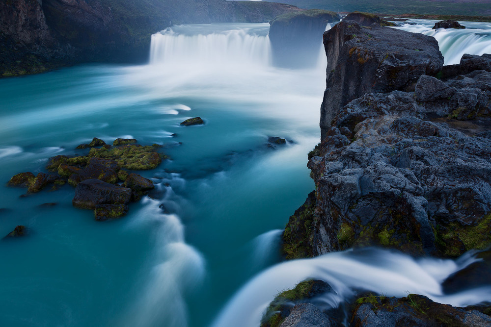 Known as the waterfall of the gods,  Godafoss  is a beautiful and powerful site to beyond in north central  Iceland .