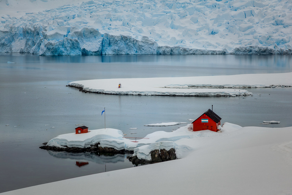 Overlooking the Argentinian research base at  Paradise Harbour ,  Antarctic Peninsula