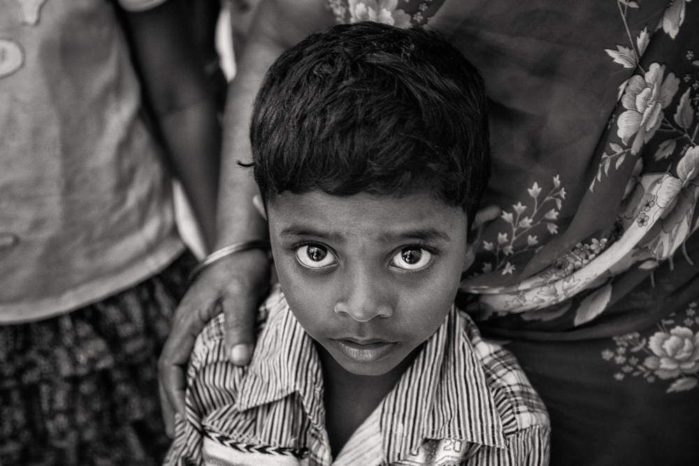 A highly emotive portrait of a young boy on St. Thomas Mount near Chennai, India.