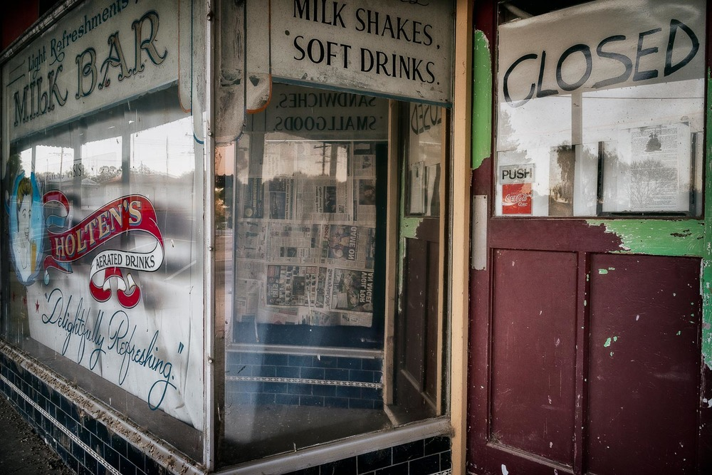 The facade of the milk bar in  Murrayville  in the Sunraysia region of  Victoria , Australia.