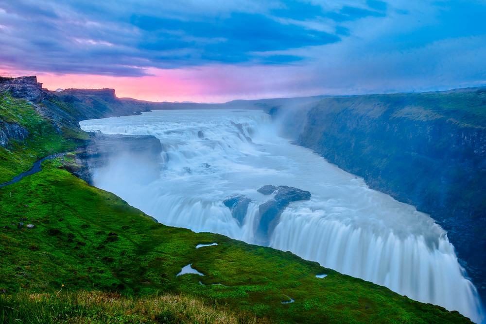 The spectacular  Gullfoss  waterfall,  Iceland