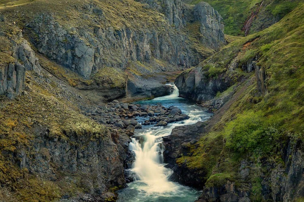 Waterfalls  are a common sight in  Iceland . Often just by the side of the road.